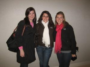 Bethany Berg '08, Leah Hogdal '09, Amy Waldner '08