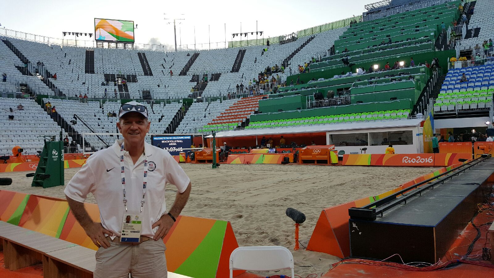 Gustie working at the Olympics in Rio