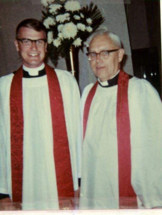 Newell Nelsen and ordination sponsor Dr. Theodore Conrad