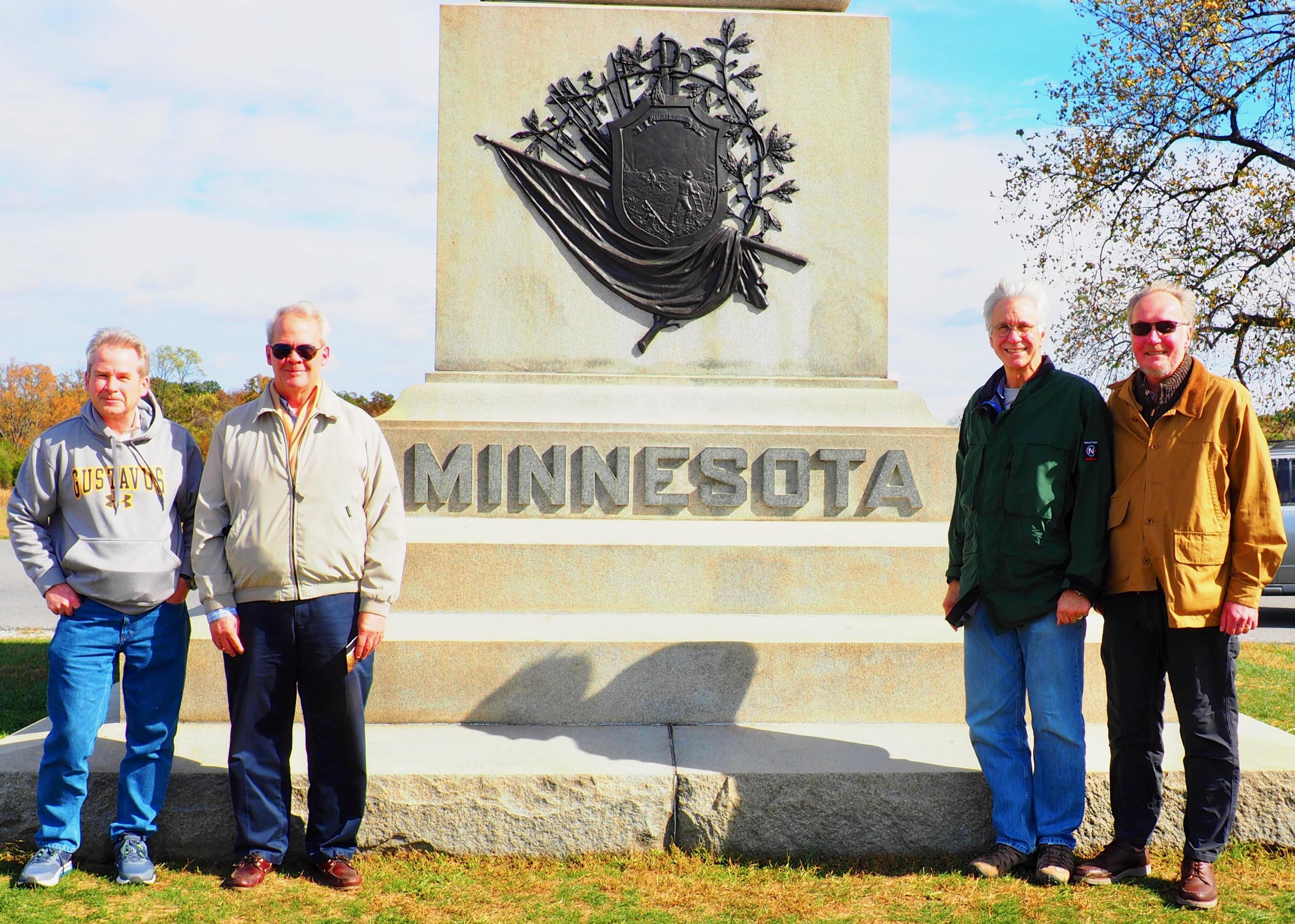 Jon Erik Larson, Lee Youngdahl, Steve Balach & Mark Matuseski in Gettysburg