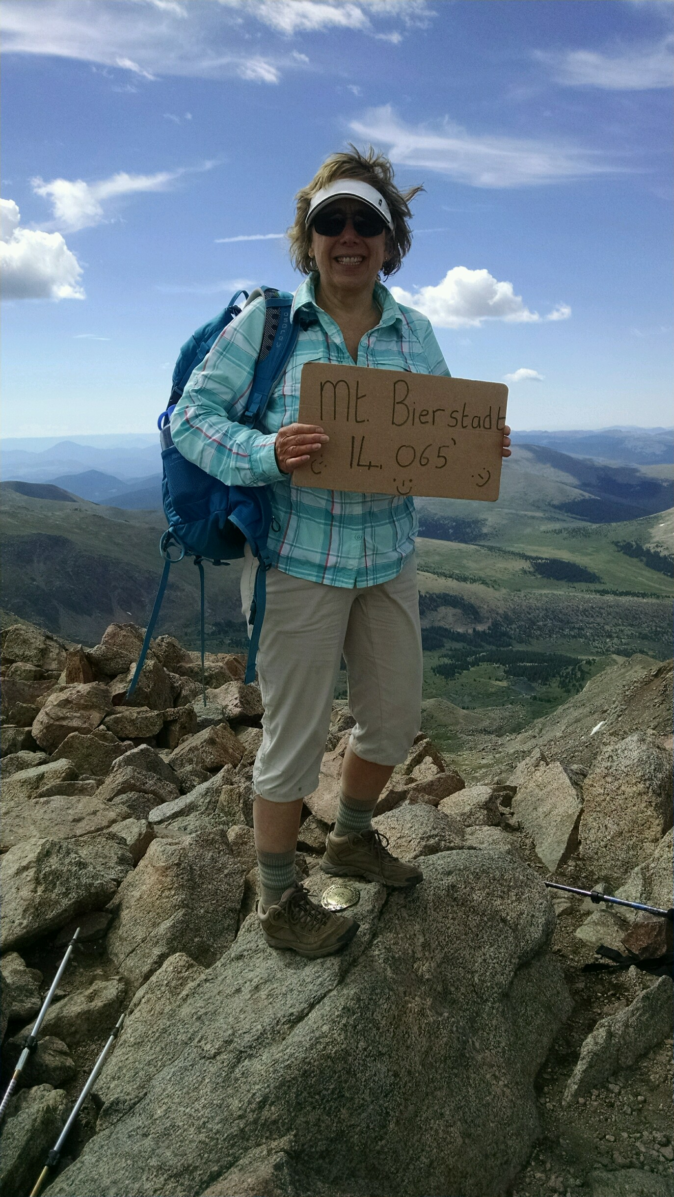 Barb Halverson (1981) on Mt. Bierstadt